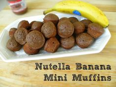 Nutella Banana  Muffins - Easy, healthy, & perfect for a lunch box or after-school snack!  Absolutely addictive.
