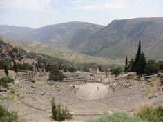 Delfos - Fotografía: Paulo Portugal Mykonos, Santorini, Grand Canyon, Portugal, Mountains, Nature, Travel, Greek Isles, Athens