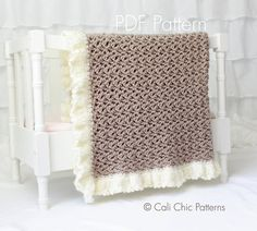 Crochet PATTERN 91  Chocolate Dream Baby Blanket Pattern