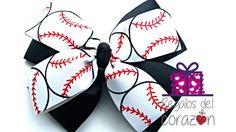 a5d16fbc Baseball / Softball Bow Girls 3 inches by KsBowsandPieces, $3.00 Buy  Basketball, Basketball Floor
