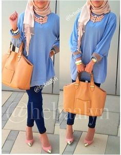♥ Muslimah fashion inspiration,, love the whole thing except for the shoes..
