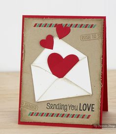 You've Got Mail stamp set and Die-namics, Heart STAX Die-namics - Kimberly Crawford #mftstamps