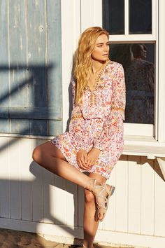 377764922159bb Summer  the season for enabling your inner bohemian in a printed sun dress.  Wear