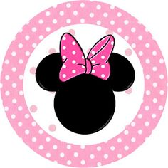 Minnie Mouse: Free Printable Toppers or Labels in pink. Right click and save as Minie Mouse Party, Mickey E Minnie Mouse, Theme Mickey, Minnie Mouse 1st Birthday, Minnie Mouse Baby Shower, Mickey Party, 1st Birthday Parties, Pink Minnie, Oh My Fiesta