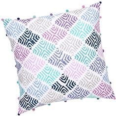 PB Teen Surf Sessions Decorator Crewel Surf Pillow Cover, Cool at... (26 CAD) ❤ liked on Polyvore featuring home, home decor, throw pillows, pillows, multi, textured throw pillows, patterned throw pillows, square throw pillows, pbteen and embroidered throw pillows