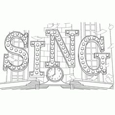 Top 10 Sing Movie Coloring Pages