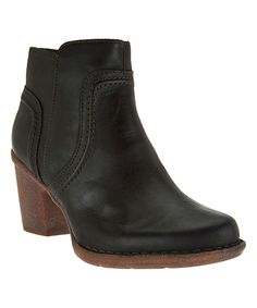 This Black Carleta Paris Leather Bootie by Clarks is perfect! #zulilyfinds