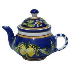Citronique 0.75 Qt. Teapot in Blue