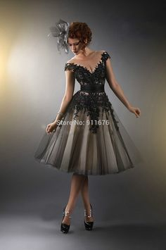 2015 New Sexy Black Row Beading Flower Cap Sleeve Appliques short Woman's Formal Gowns Evening Party Prom Dresses Sleeveless-in Prom Dresses from Apparel & Accessories on Aliexpress.com | Alibaba Group