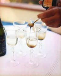 1 teaspoon saba ( Another name for saba is vincotto or vino cotto) About 4 ounces Prosecco, chilled Pour the saba into a flute. Carefully add the Prosecco without disturbing the saba. Stir in the saba just before drinking.
