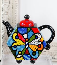 TEAPOT HEXAGON WITH BUTTERFLY 339012