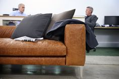 Two much loved Walter sofas are coming back to Project after being the centrepiece of a modern office space for 4 years. We are welcoming these Walters back, to find them a happy new home, and to start their next chapter. Tiny Man Cave Ideas, Sofa Design, Furniture Design, Tan Leather Sofas, Happy New Home, Corporate Interiors, Man Cave Home Bar, Modular Sofa, Fabric Sofa