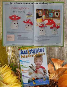 champignon que j'ai réalisé pour le magazine assistantes maternellesN°106 du mois novembre 2013