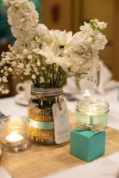 "Table Decor | 11 Ideas for ""Something Blue"" 