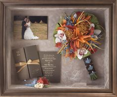 21. Wedding bouquet and keepsake collage 16