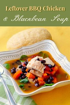 Barbeque Chicken and Blackbean Soup - Rock Recipes -The Best Food & Photos from my St. Bean Soup Recipes, Chicken Recipes, Chicken Soup, Black Bean Soup, Black Beans, Barbecue Chicken, Rotisserie Chicken, Rock Recipes, Homemade Soup