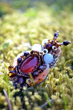 Beetle ring nature jewelry insect jewelry beetle by RezcovaAgija, €50.00