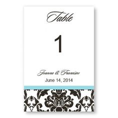 Victoria Damask Table Cards