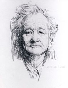 Dave Malan sketchbook drawing- Bill Murray