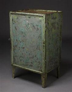 Vare: 3237264Industrielt design, arkivskab, bemalet jern, 1940'erne