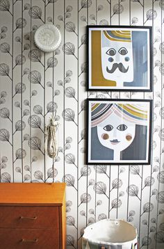wallpaper + art combination