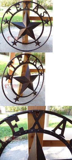 Plaques and Signs 31587: Texas Lone Star Metal Wall Plaque Barn Star Wire Ring Rustic Western 24 -> BUY IT NOW ONLY: $33.95 on eBay!