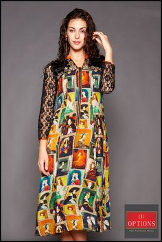 Life is too short to wear boring clothes. Check out our elegant and chic collection this season. Start the week off strong with our vibrant colored dress. Shop Now at Options.  #Options #Fashions #Juhu #Andheri #Shopping #Trends #New #Collection