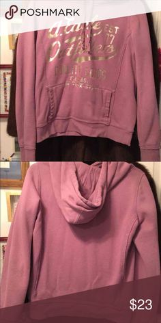 American Eagle hoodie Pink American Eagle hoodie with silver lettering, front pockets, size medium, new American Eagle Outfitters Jackets & Coats