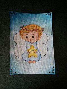 Cartolina per battesimo bambino