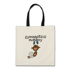 Gymnastics Monkey Tshirts and Gifts Canvas Bag