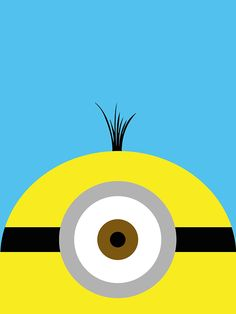 Despicable Me, Minion - Minimalist Movie Posters on Behance Minion Painting, Painting For Kids, Mini Canvas Art, Kids Canvas, Playing Card Crafts, Playing Cards, Disney Canvas Paintings, Minion Art, Create Canvas