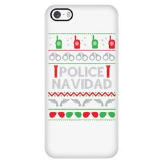 Police Navidad iPhone and Samsung Phone Case