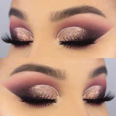 """WEBSTA @byjeannine don't forgot to check out my last post for a full face of this look and some more NYE makeup inspiration ✨ @bhcosmeticsgermany @bhcosmetics Zodiac Eyeshadow Palette @stilacosmetics magnificent metal liquid eyeshadow in """"rose gold retro"""" 