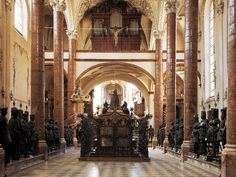Court Church, Innsbruck and larger-than-life statues. These were awesome to see firsthand