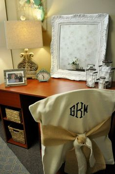 Wonderful Woven Chair Cover With Monogram Part 9