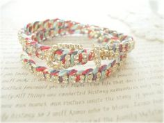 Double Wrap Buckle Vintage Crystal Friendship Bracelet