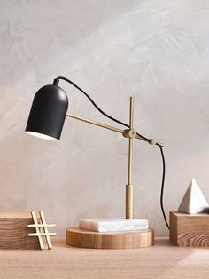 Cheswick Table Lamp in Black/Marble | Desk Lamps | Lamps | Lighting