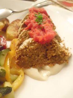 Cotechino-Rotolone di lenticchie vegano /  Lentil loaf with walnuts - vegan   (Ristorante Desenzanino)