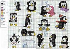 penguin cross stitch - Google Search