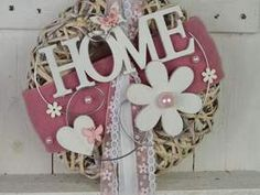 Door wreath wall wreath 28 cm Home country house pink / white Door wreath wall wreath 28 cm Home country house pink / white Diy Wreath, Door Wreaths, Burlap Wreath, White Wreath, Christmas Bulbs, Christmas Decorations, Holiday Decor, Welcome Signs Front Door, Idee Diy