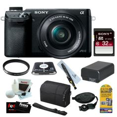 "Sony NEX-6 16.1MP Compact Interchangeable Lens w/ 3"" LED Screen Digital Camera in Black w/ 16-50mm Power Zoom Lens + 32GB Accessory Kit - http://www.digitalcameraoptics.com/sony-nex-6-16-1mp-compact-interchangeable-lens-w-3-led-screen-digital-camera-in-black-w-16-50mm-power-zoom-lens-32gb-accessory-kit/"