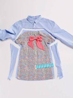 DIY – Upcycling: Kleid aus altem Hemd nähen.