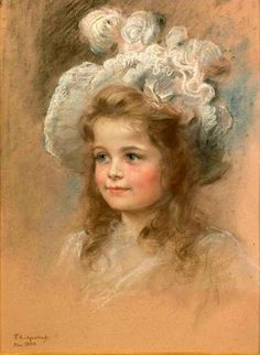 F.A. von Kaulbach - Portrait Of A Young Girl