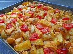 Hähnchenbrustfilet mit Country-Kartoffeln
