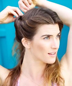 Workout Hairstyles - How To Style Hair For Outdoors | Check out this post on Refinery29 about hairstyles for outdoor activities. #refinery29 http://www.refinery29.com/workout-hairstyles