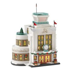 Department 56 Christmas in The City Village Deerfield Airport Lit House, 8.19-Inch ** Want to know more, visit the site now : Christmas Decorations