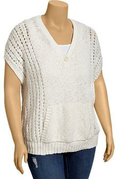 Old Navy Women's Plus Textured Pointelle Sweaters on shopstyle.com