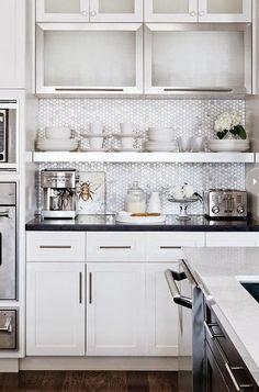 Открытые полки на кухне: идеи