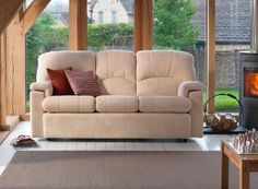 Chloe 3 Seater Sofa Checkers Oysterby G Plan. Available from Rodgers of York #Sofa #Home