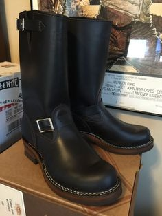 That seemed reasonably quick? Not 16 weeks? They look great, post some build specs and more pics when you get a. Biker Boots, Motorcycle Boots, Cowboy Boots, Tall Boots, Shoe Boots, Leather Men, Leather Boots, Red Wing Boots, Engineer Boots